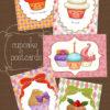 カップケーキのポストカード